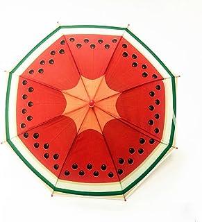 LJSHU Parapluie De Modèle De Dessin Animé pour Enfants en Plastique Vert Long Manche Créatif pour Les Enfants