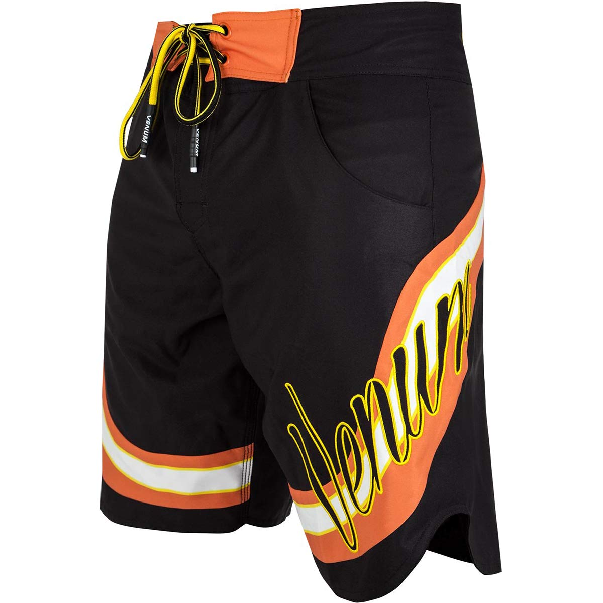 Venum Cutback Drawstring Closure MMA Boardshorts - XL - Black/Yellow by Venum