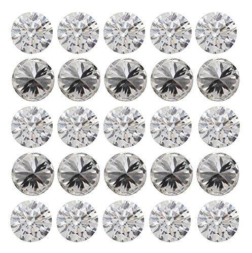 Natural Loose Diamond Round Shape G H Color SI1 VS1 Clarity 0.90 MM 25 Pcs Lot Q27