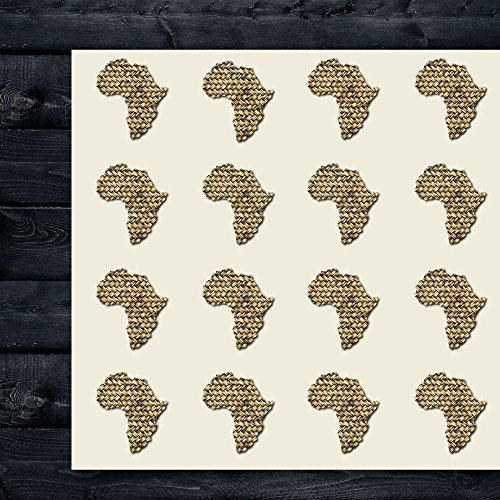 Africa Craft Stickers, 44 Stickers at 1.5 Inches, Great Shapes for Scrapbook, Party, Seals, DIY Projects, Item 1321646