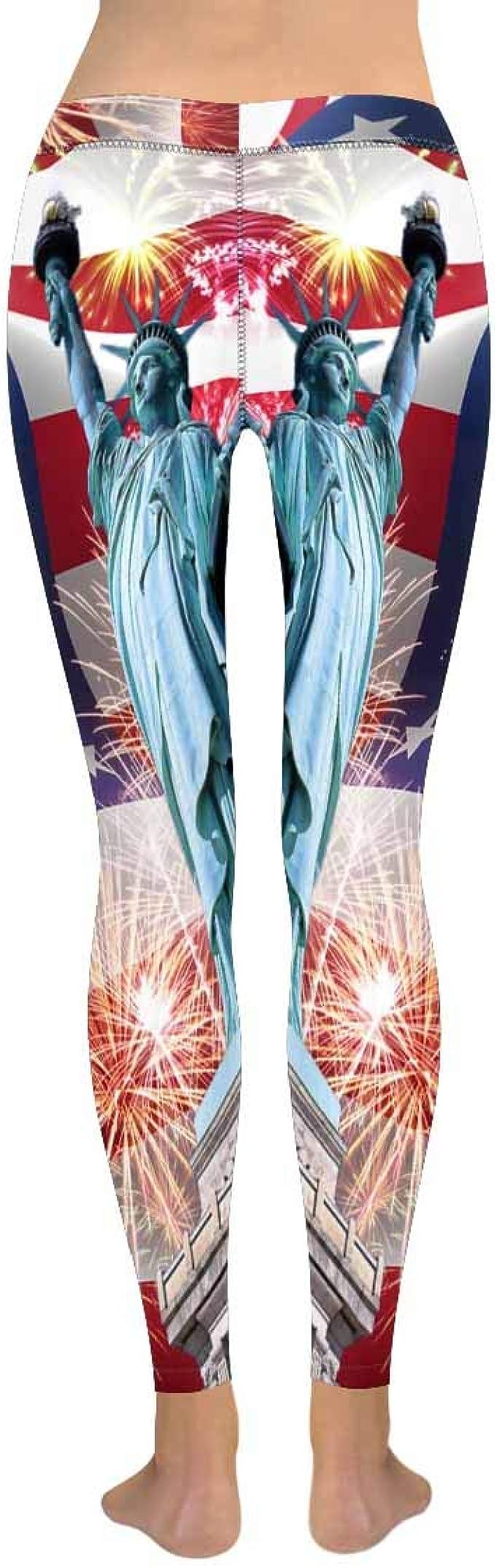 XXS-5XL InterestPrint Womens Soft Slim Leggings Geometry Space Running Workout Active Leggings