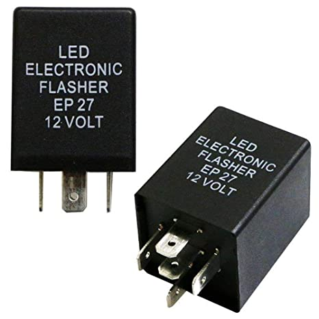 iJDMTOY (1) 5-Pin EP27 FL27 Electronic LED Flasher Relay Fix For LED on
