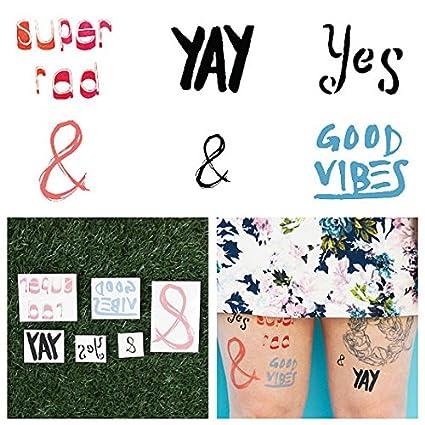 Tatuajes Temporales Tattify - Tipografía a la moda - Justo mi tipo ...