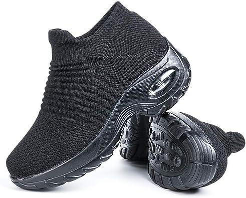 Zapatillas Deportivas de Mujer Zapatos Running Fitness Gym Outdoor Sneaker Casual Mesh Transpirable Comodas Rojas Calzado Azul Negro Azul Rosa Caqui Blanca Talla 35-44: Amazon.es: Zapatos y complementos