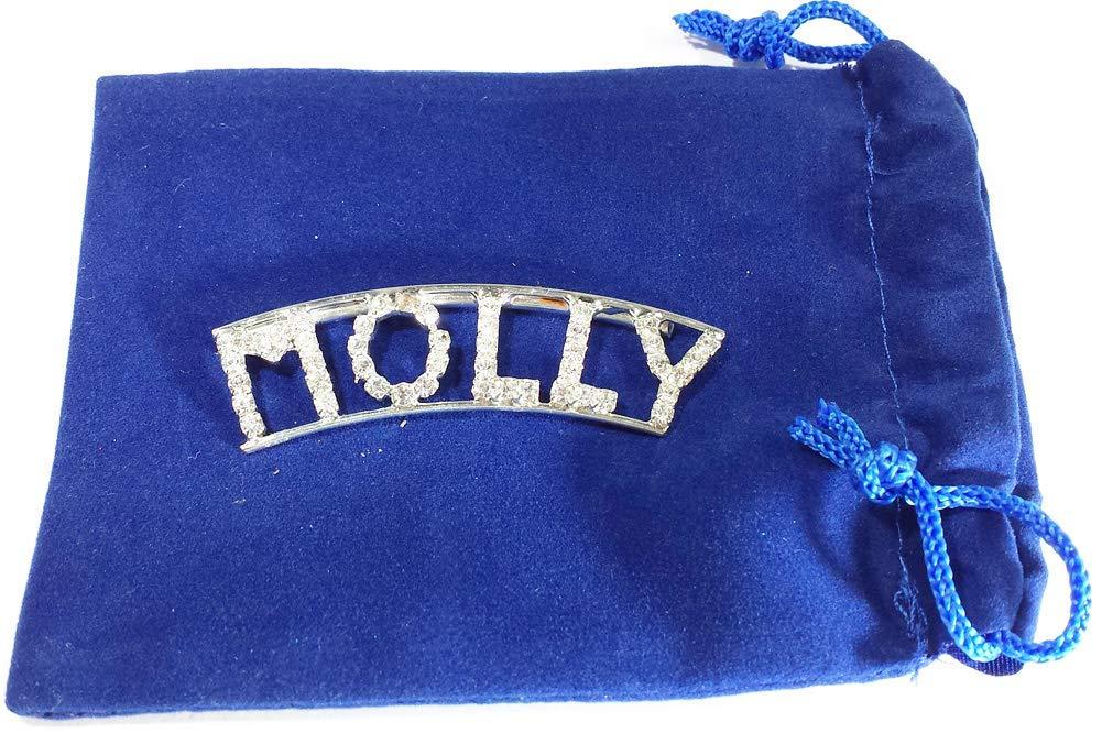 Personalized Rhinestone MOLLY name//magnet back