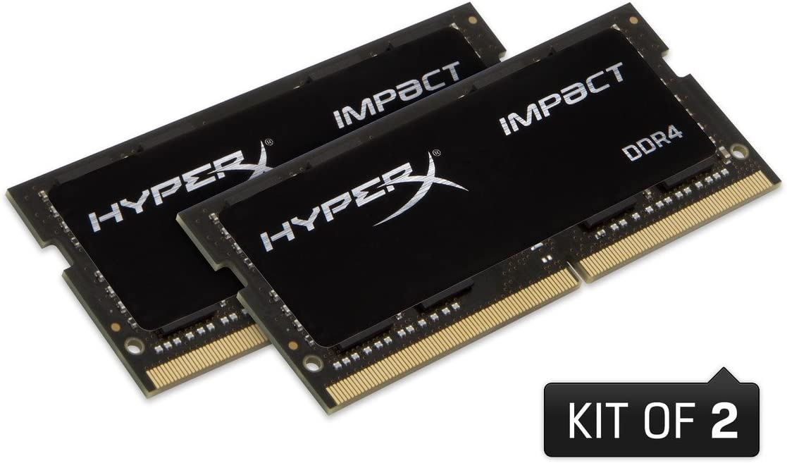 Kingston Technology HyperX Impact  32GB 3200MHz DDR4 CL20 SODIMM (Kit of 2) Memory HX432S20IBK2/32