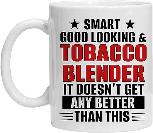 Taza de licuadora de tabaco, elegante, apuesto y licuadora de ...