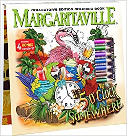 Somewhere Adult Coloring Book Collectors Edition With 24 Colored Pencils Pencil Sharpener And 4 Drink Coasters 9781988603155 Newbourne Media Books