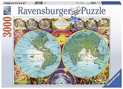 Ravensburger Antique Map Puzzle 3000 Piece Jigsaw Puzzle for Adults – Softclick Technology Means Pieces Fit Together Perfectly - Antique Nyc