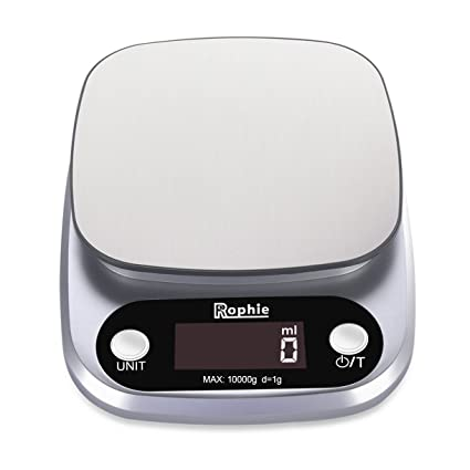 Amazon.com: Rophie Accurate Digital Kitchen Scale 22Lb 10Kg Small ...