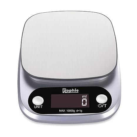 Rophie B0711by3t7 22lb 10kg Digital Kitchen Scale 2 0 Version Silver