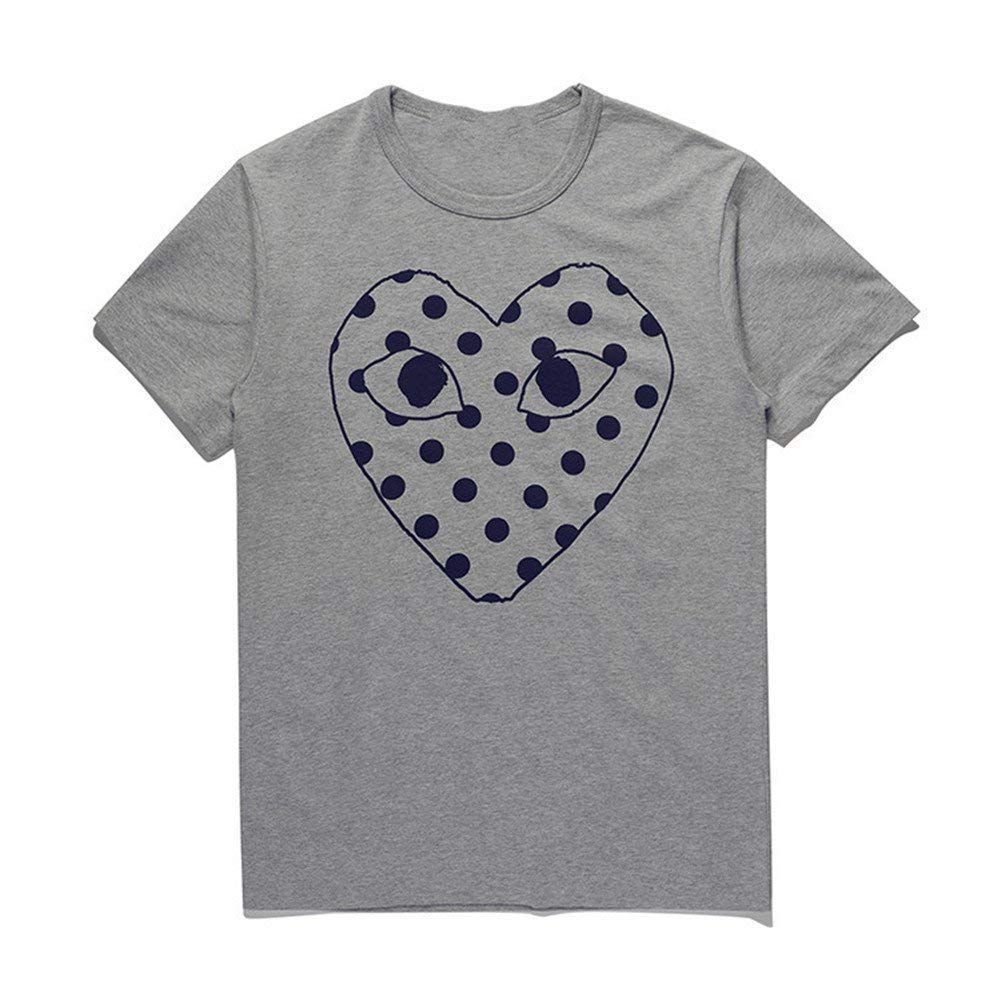 Dlayoo Comme Des Garcons Limited T Shirt Wave Point Heart Short Sleeved 9957