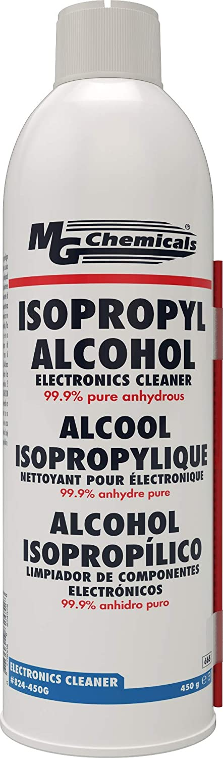 MG Chemicals - 824-450G 824 99.9% Isopropyl Alcohol Electronics Cleaner, 15.9 oz Aerosol Spray, Clear