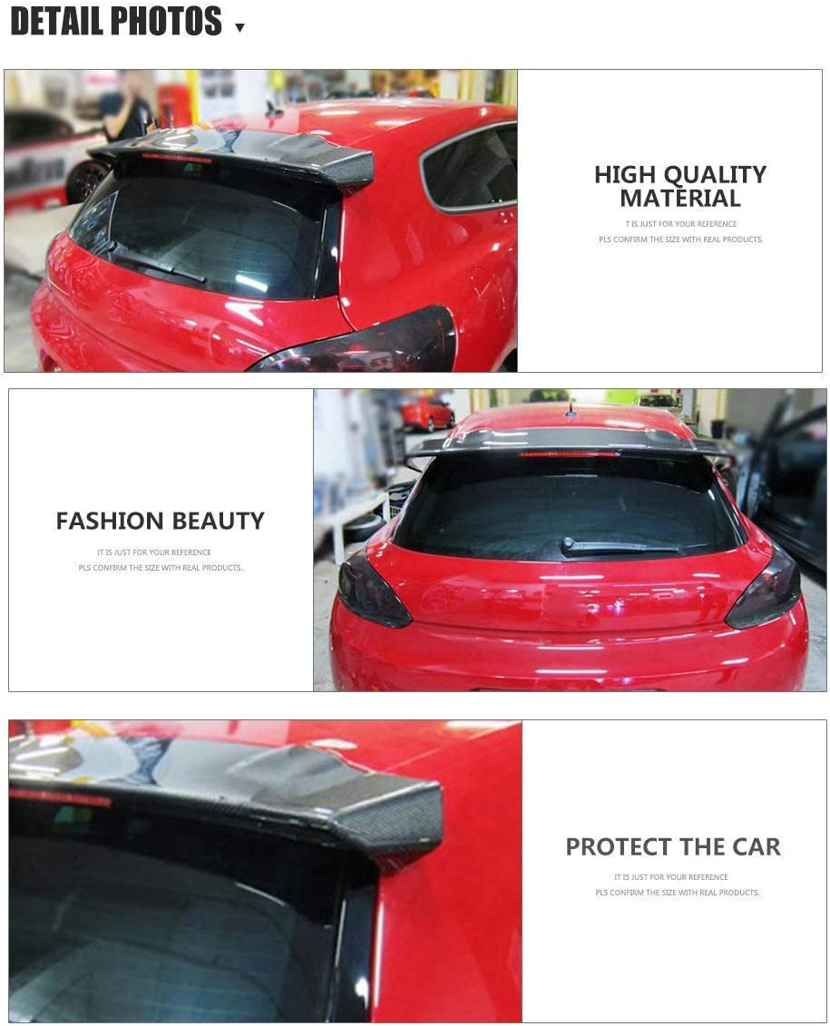 Trunk Roof Boot Tail Lid Window Wing Lip 2008-2013 XTT Suitable For Volkswagen Scirocco Carbon Fiber Rear Spoiler