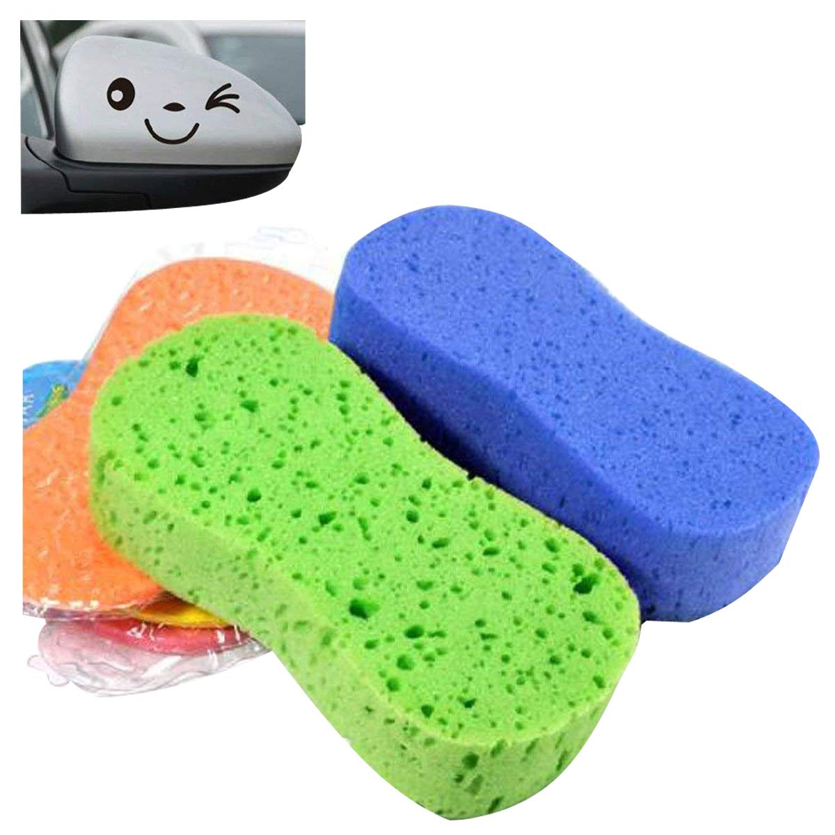 é ponge de nettoyage, durable et super-absorbant, outils de lavage pour voiture, 3 é ponges de nettoyage-couleur alé atoire 3 éponges de nettoyage-couleur aléatoire SwirlColor