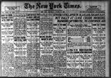 Photo: Photo of Newspaper headlines,New York Times,October 30,1929,Stock Market Crash