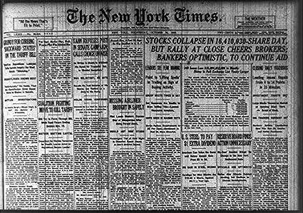 Stock market crash of 1929 headlines for dating
