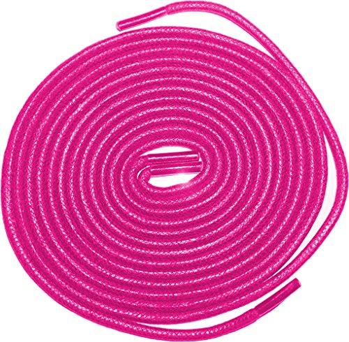 Shoeslulu 20-59 Premium Round Waxed Canvas Shoelaces Bootlaces Magenta Pink