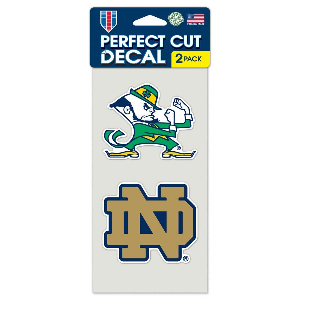 WinCraft NCAA Notre Dame Perfect Cut Decal Set of 2 4 x 4