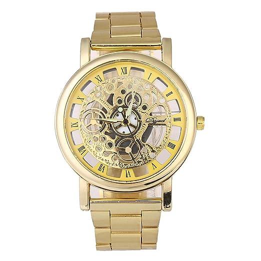 Relojes de Lujo Reloj de Cuarzo Reloj de Acero Inoxidable con Brazalete Informal Relojes Hombre Deportivos Watches Digitales Mujer de Inteligentes niños: ...