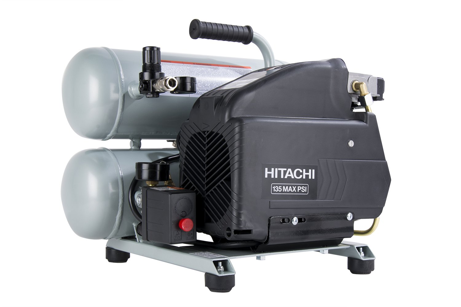 hitachi 2 hp air compressor. hitachi ec99s 4-gallon portable electric twin stack hot dog air compressor - amazon.com 2 hp i