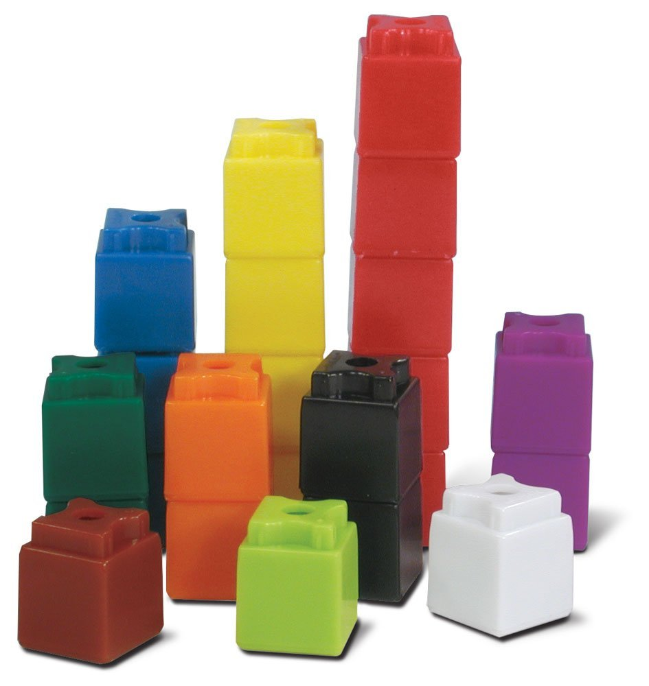 ETA hand2mind 3/4-Inch Multi-Colored Linking UniLink Cubes (Set of 500)