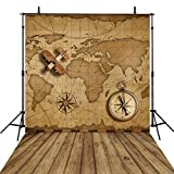 Wooden Photography Backgrounds Vintage 6x8Feet Children Photo Backdrops World Map Backgrounds Computer Printed Vinyl Photography Background Studio Props