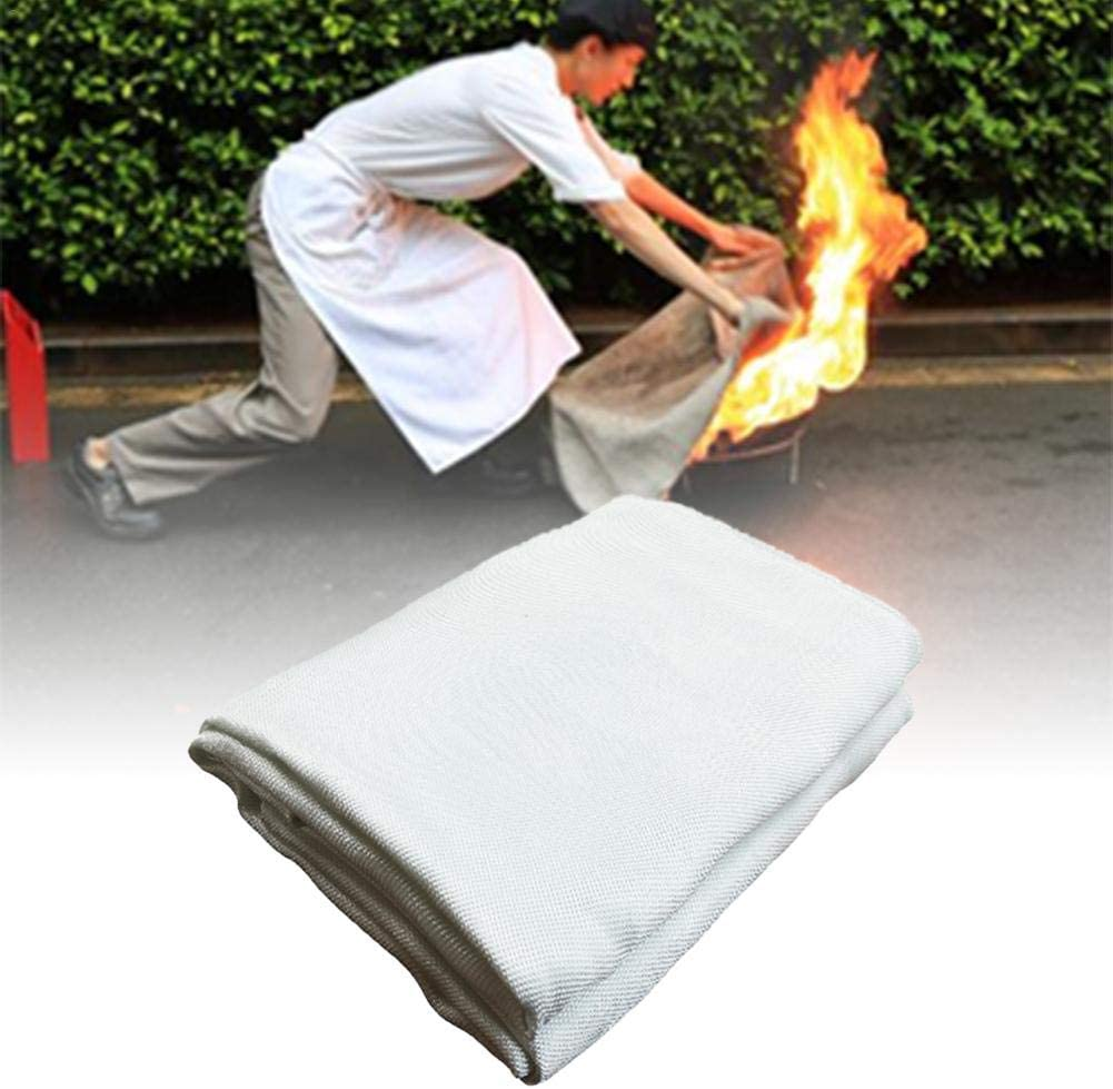 Multi Function Fire Retardant Blanket Emergency Fire Shelter Safety Cover for Home Office 39.3747.24in Beige 1mm kindly Awtang Fireproof Blanket