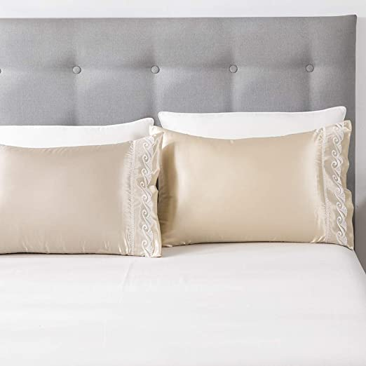 Amazon Com Leadtimes Lace Satin Pillowcases For Hair And Skin
