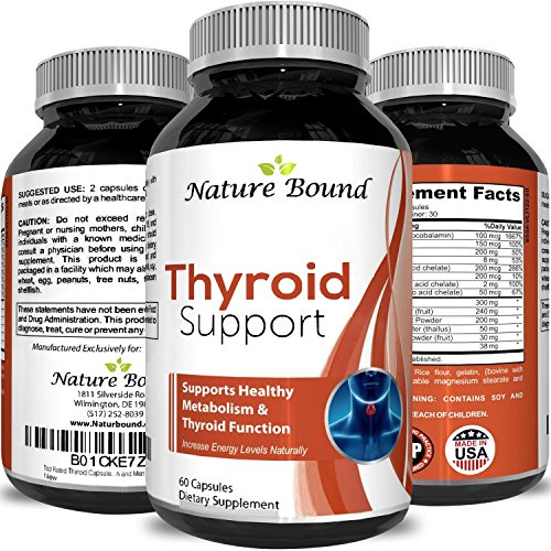 Thyroid Support Complex Blend  Vitamin B12, Zinc, Copper, Selenium, Iodine Increase Metabolism and Energy  Supplement for Men and Women Weight Control and Weight Loss Pills
