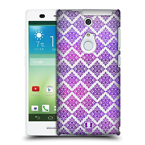 Head Case Designs Victorian Ultra Violet Patterns Hard Back Case for Fujitsu Arrows NX F-01F