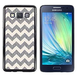 LECELL--Funda protectora / Cubierta / Piel For Samsung Galaxy A3 SM-A300 -- Pattern Silver Sparkle Stars --