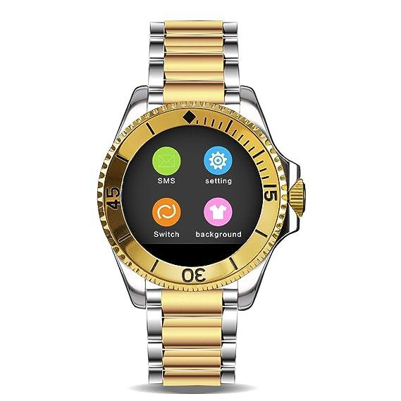 Reloj Inteligente Bluetooth Pantalla Táctil Reloj Para iphone Android Smartphone: Amazon.es: Relojes