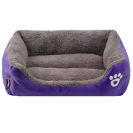 GODGETS Cama para Perros, Sofá para Perros, Cesta para Perro,con Cojín Extraíble,Purple,110 * 85 * 19CM(Pet<35KG)