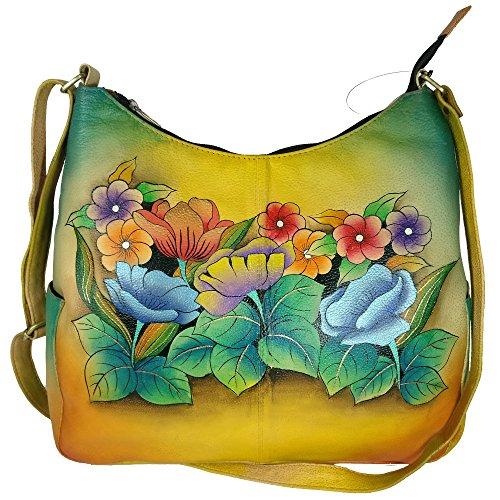 Charmeine Women's Leather Shoulder Bag Painted 38 cm x 32.8 cm x 12 cm Multi Color by Charmeine