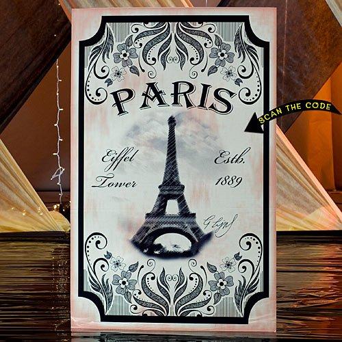 Shindigz 6 ft. Vintage Paris Eiffel Tower Standee