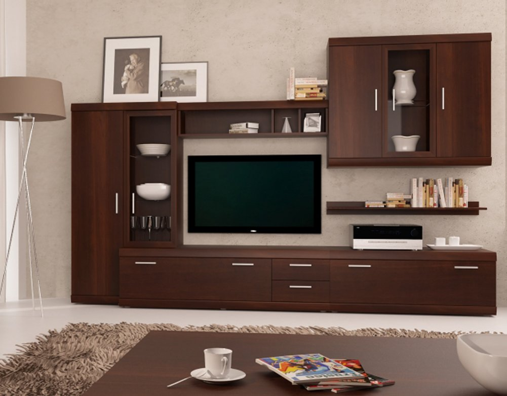 Amazon.Com: Imperial Entertainment Center – Modern Wall Units
