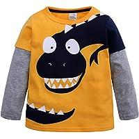 Mitlfuny Primavera Otoño Ropa de Bebé Niñas Niños Camisetas de Manga Larga Cosiendo Sudaderas Dinosaurio Dibujos…
