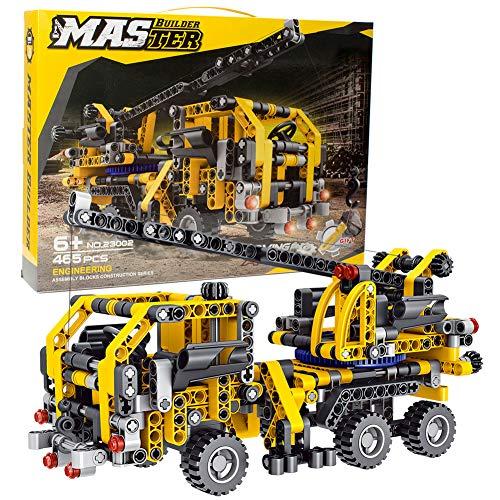 BIRANCO. Crane Truck Building Kit – Educational Learning STEM Building Blocks Toys Gifts for 8, 10, 12 yr Old Kids…