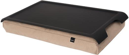 Bosign Anti-Slip Lacquered Wood Adjustable Cushion Mini Laptray Natural