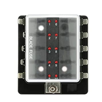 hoogles Seguridad portador Portafusibles, Blade Fuse Box ATO ATC 12 V/24 V Coche