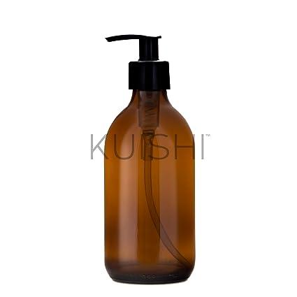 Botella de vidrio dispensadora de jabón Kuishi, vidrio, Amber, 300 ml