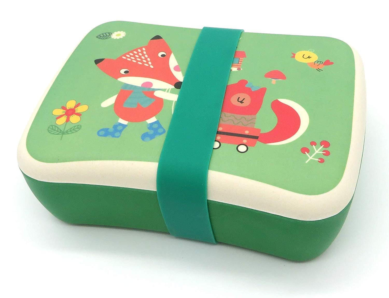 Fiambrera de Bambu Infantil ♻ Pack Tupper y Sandwichera de Fibra de Bamb/ú Sin BPA Bio Biodegradable y Ligero Apto para Lavavajillas Material Ecologico Reciclable Ideal ni/ños Lonchera Eco