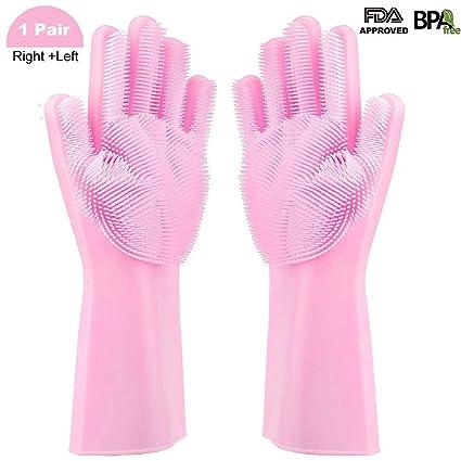 Smilatte Magic Silicone Gloves with Wash Scrubber e9aae03816509