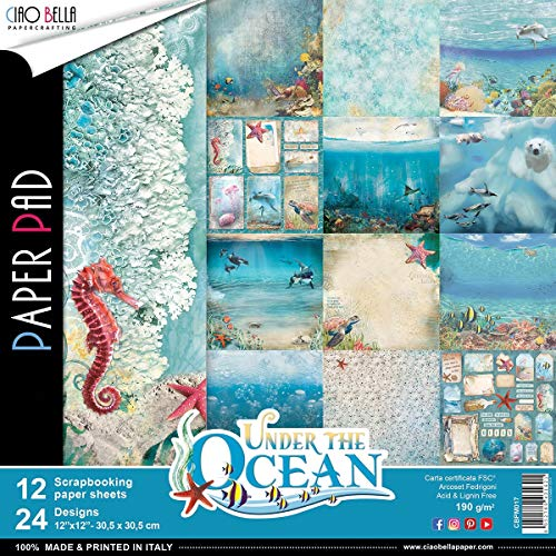 (Ciao Bella CBPM017 Under The Ocean Double-Sided Paper Pack 12