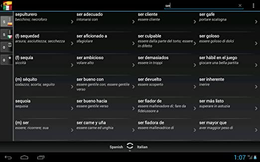 Amazon.com: Spanish Italian Dictionary & Translator: Appstore for Android