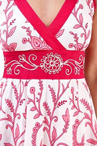 Pink Swirl Verano Frontal con Floral Cruzado Dama Floral Vestido Pistachio el de para wxnqHBfvg6
