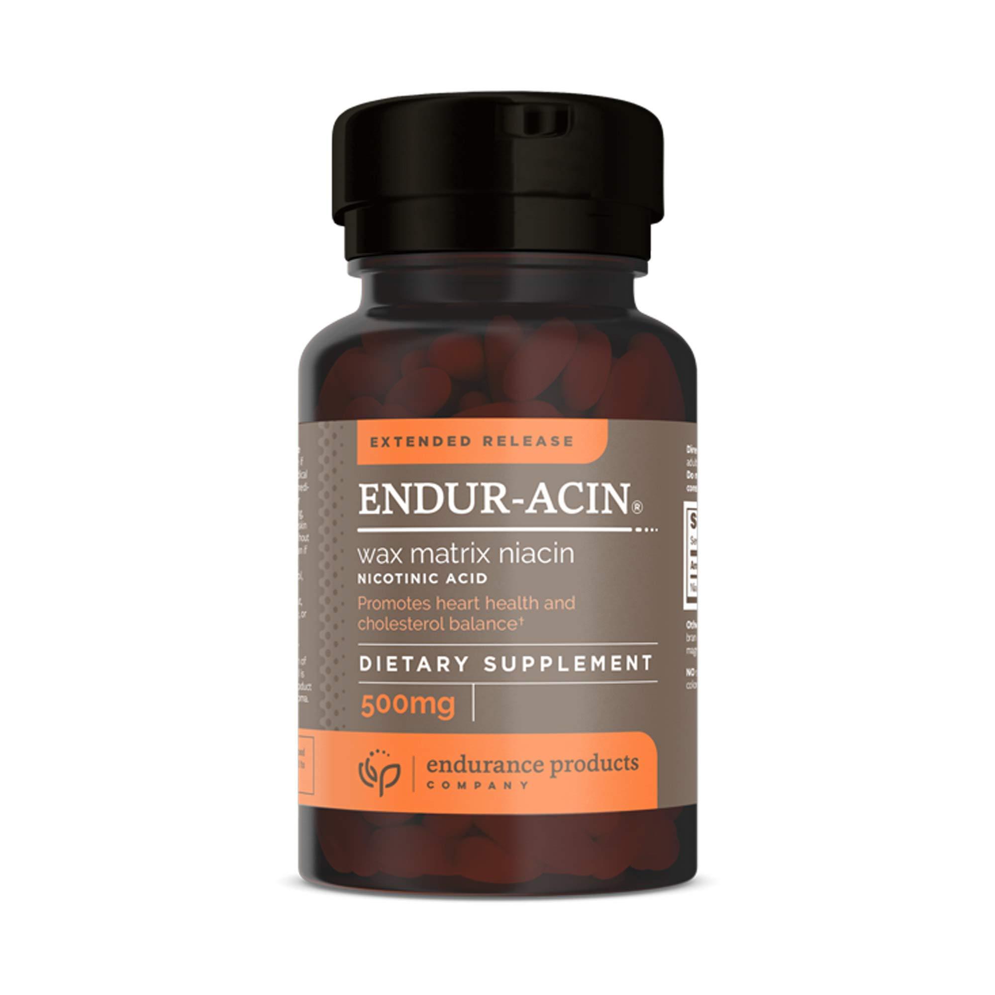 Extended Release ENDUR-ACIN® Wax Matrix Niacin (Nicotinic Acid) 500mg 100 Tablets - Pack of 2
