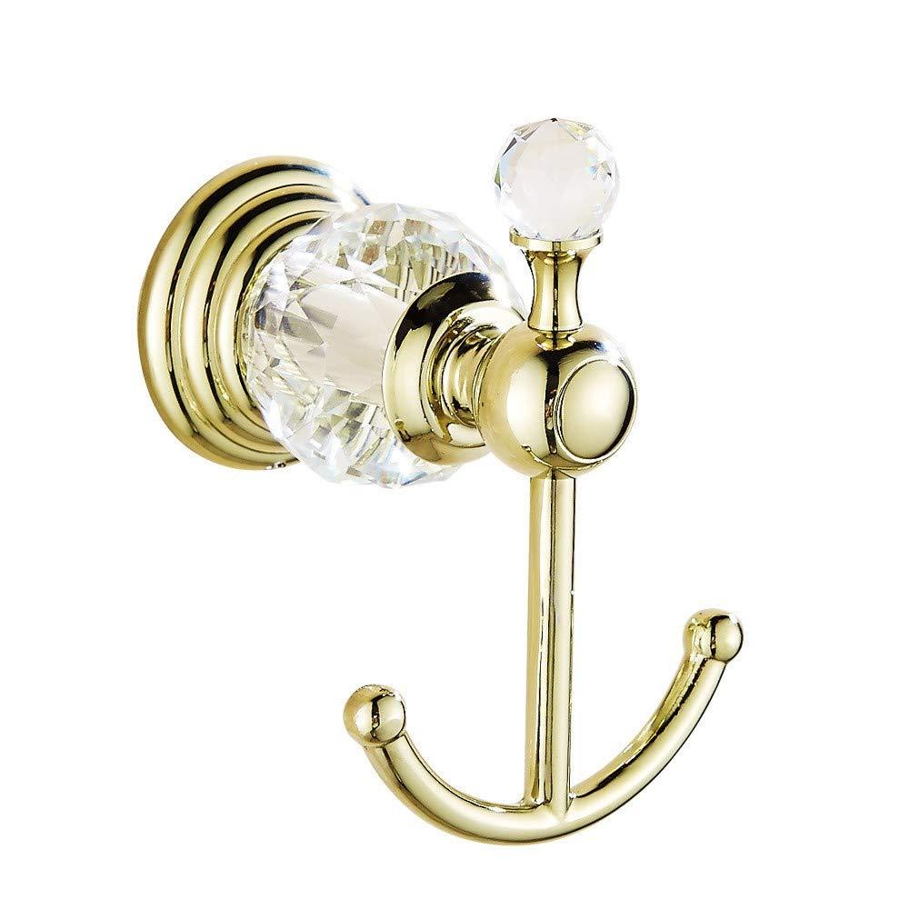 T-YSPJ Retro Gold Kristall Badezimmer Set Kleiderhaken Handtuchhalter Handtuchring Badzubeh/ör Kleiderhaken