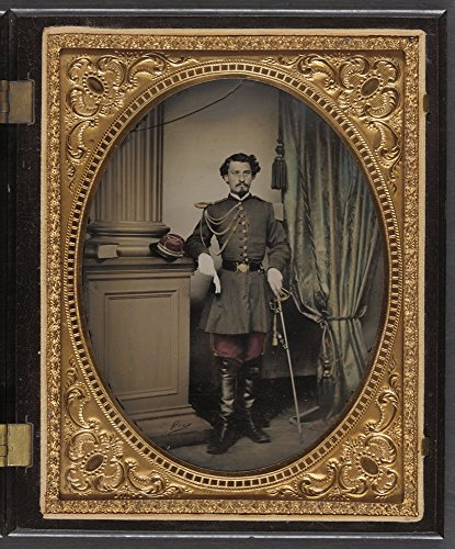 Historic Photos Unidentified soldier in Confederate officer's uniform